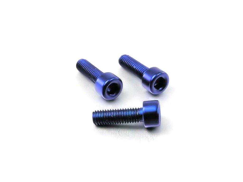 Šroub M3x10mm, modrý