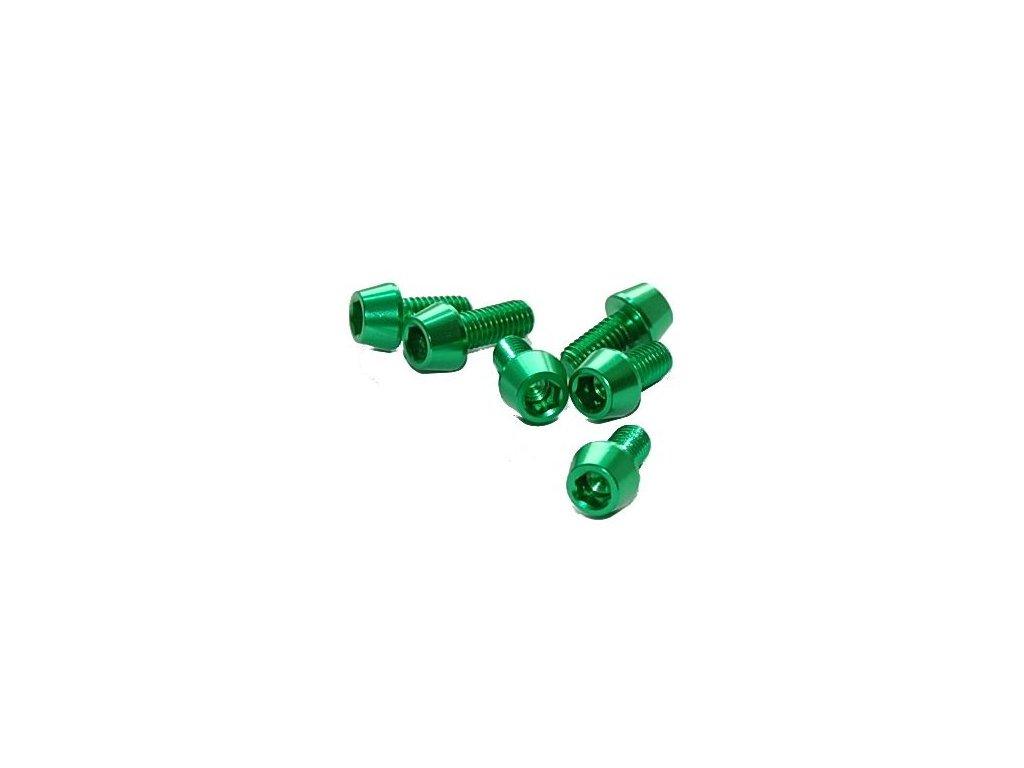 Šroub M4x20mm, zelený
