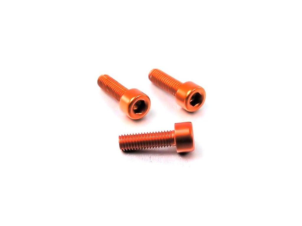 Šroub M3x10mm, oranžový