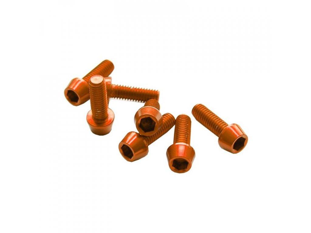 Šroub M4x20mm, oranžový