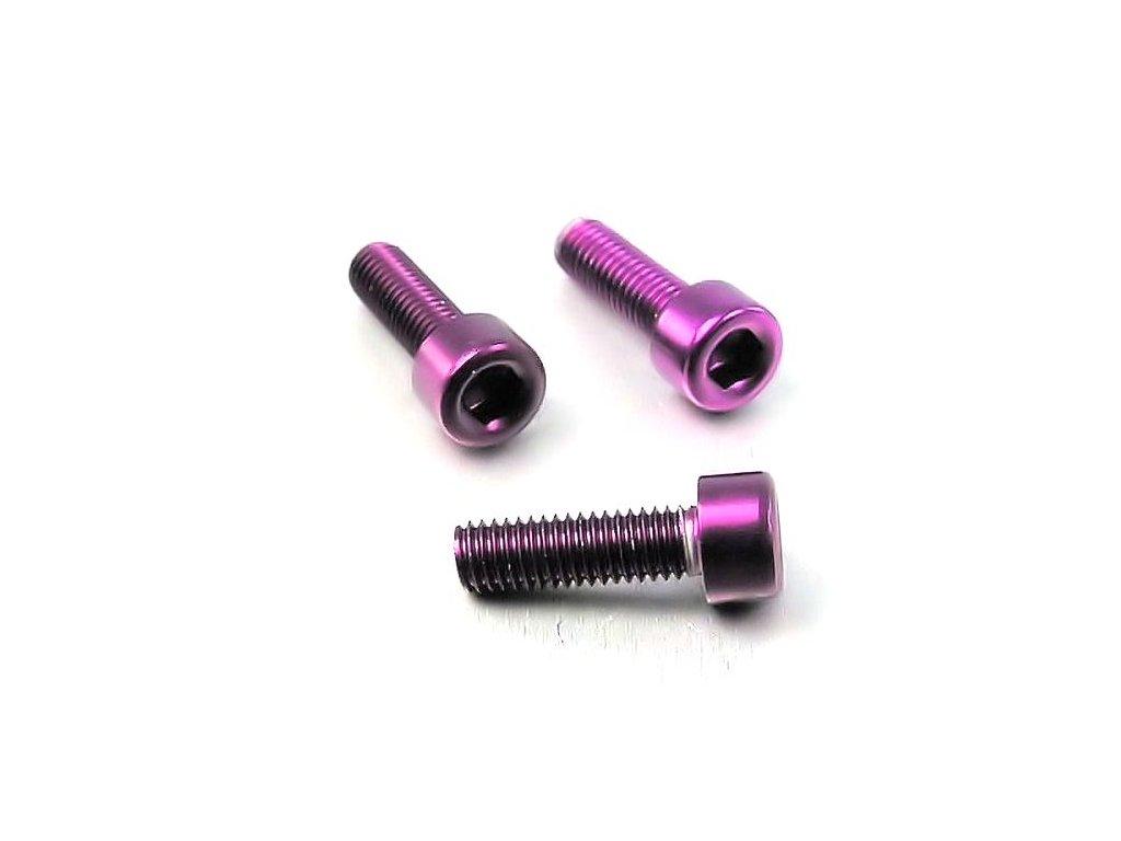Šroub M3x10mm, fialový