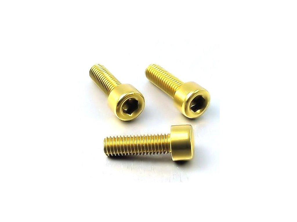 Šroub M5x20mm, zlatý