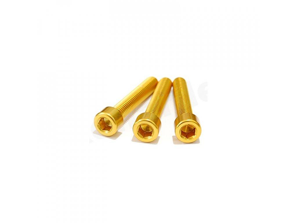 Šroub M4x20mm, zlatý