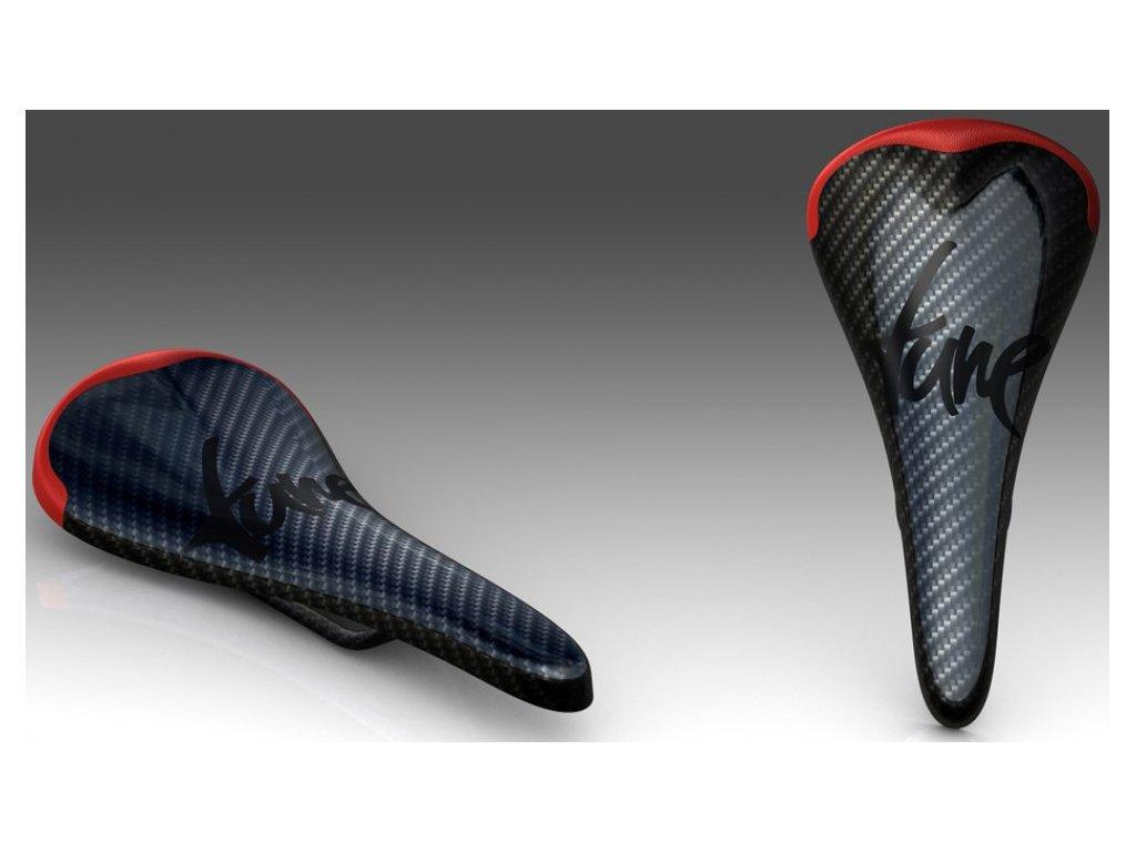 Sedlo TUNE Komm-Vor+ Carbon, červené, 79g