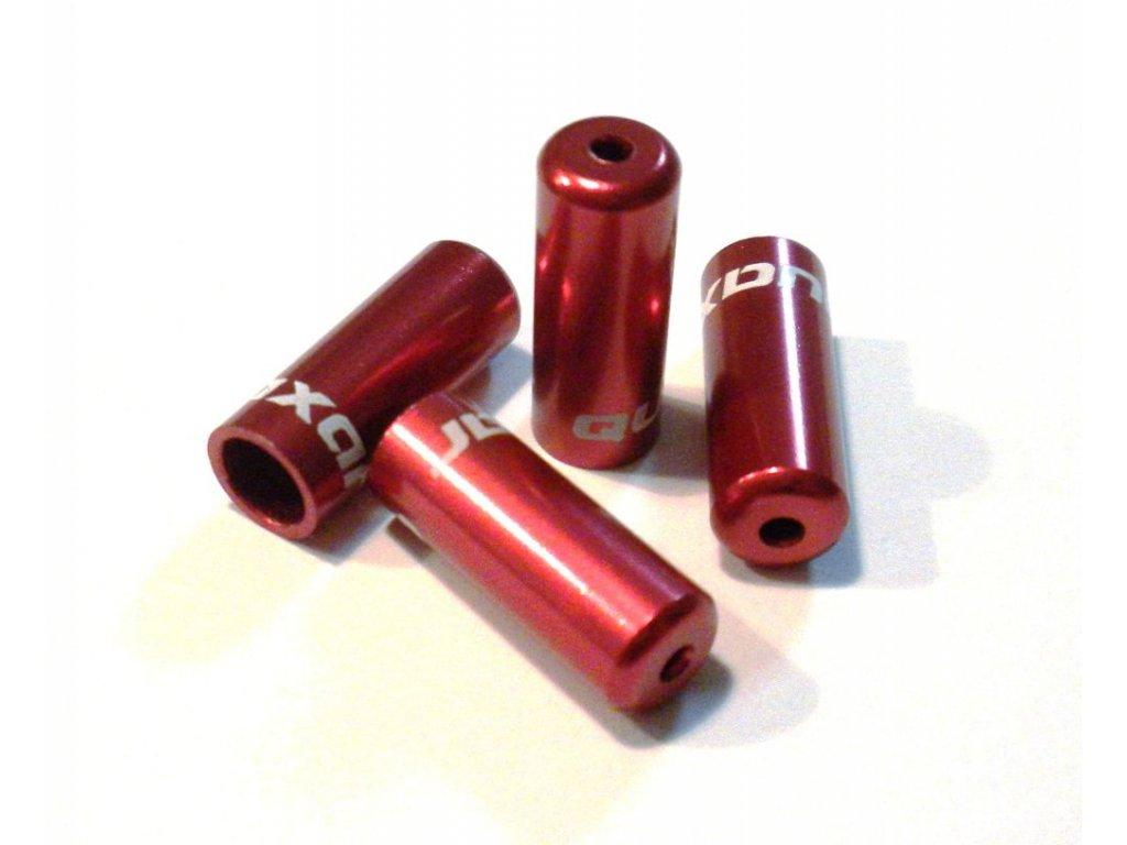 Zatěsněná koncovka řadícího lanka 4mm, červená