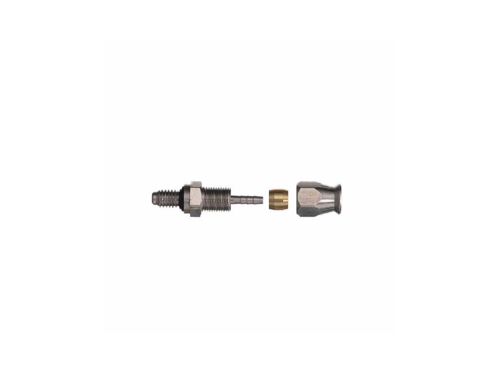 Zakončení hydraulické brzdové hadice třmen, typ závit M6, ocel