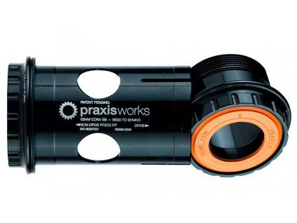 Středové složení Praxis Works Shimano Road 68MM BB30, PF30, Specialized Road, 119g