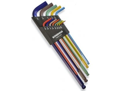 Sada imbusových klíčů Bondhus LWR XL ColorGuard