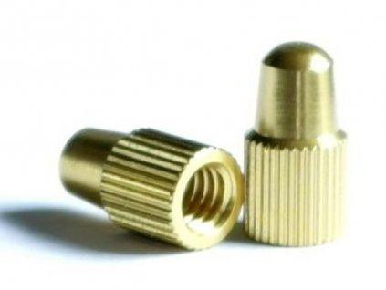Čepička galuskového ventilku alu, zlatá, 0,4g