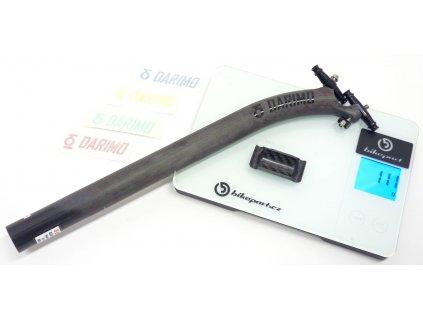 Karbonová sedlovka DARIMO CARBON T2 SB offset 25 mm, UD matná / černá, 27,2x350mm, 111g