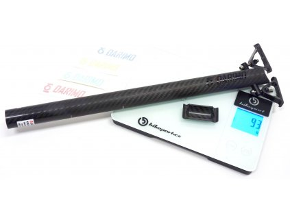 Karbonová sedlovka DARIMO CARBON T1, 3K matná / černá, 27,2x400mm, 93g
