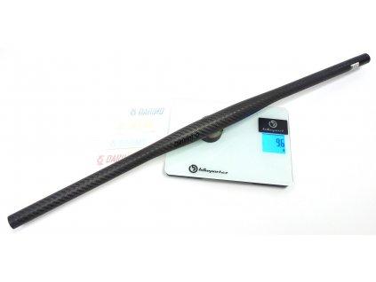 92g DARIMO CARBON 3K mat Carbon MTB Flatbar 6°, 31,8x720 mm, černá