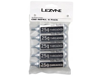 Set 5 kusů bombiček Lezyne CO2 25g závitové  5-Pack