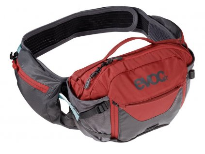 Ledvinka EVOC HIP PACK PRO 3, 3L, Carbon Grey - Chili Red