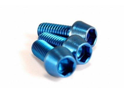Titanový šroub M6x30mm - modrý