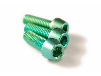Titanový šroub M5x15mm - zelený