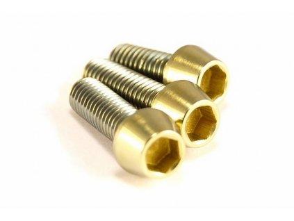 Titanový šroub M5x15mm - zlatý