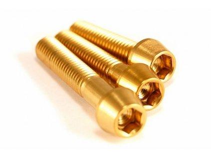 Titanový šroub M6x35mm - zlatý
