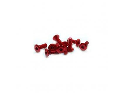 Šroub se zapuštěnou hlavou M5 x 20mm, červený