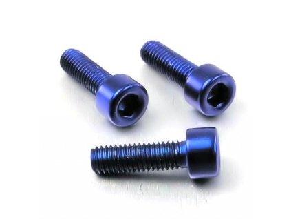 Šroub M5x16mm, modrý
