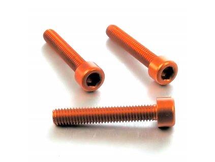Šroub M6x30mm, oranžový