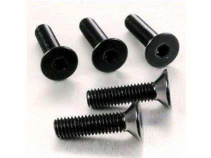 Šroub se zapuštěnou hlavou M6 x 35mm, černý