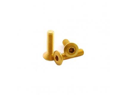 Šroub se zapuštěnou hlavou M5 x 20mm, zlatý