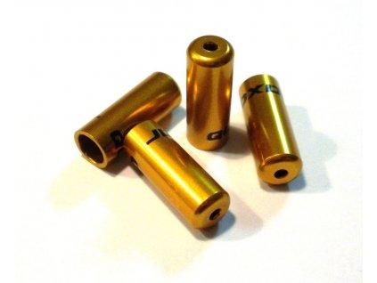 Zatěsněná koncovka řadícího lanka 4mm, zlatá