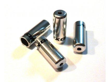Zatěsněná koncovka řadícího lanka 4mm, stříbrná