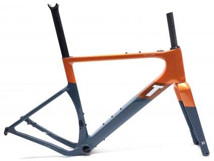 Rámová aero gravel sada 3T Exploro RaceMax, Grey Orange