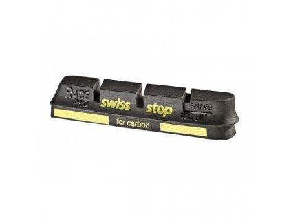 Brzdové špalky Swissstop Race Pro Black Prince pro karbonové ráfky, sada 4ks