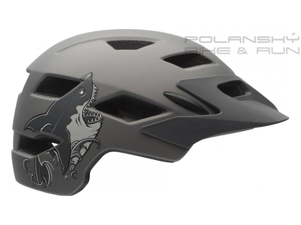 Cyklistická přilba BELL SIDETRACK mat titanium shark