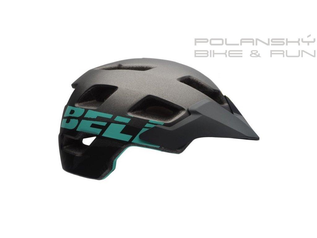 Cyklistická přilba BELL RUSH Mat Gunmetal/Mint Sonic