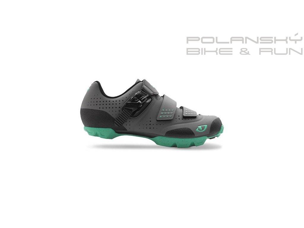 Cyklistické MTB tretry dámské GIRO MANTA R šedo/zelené