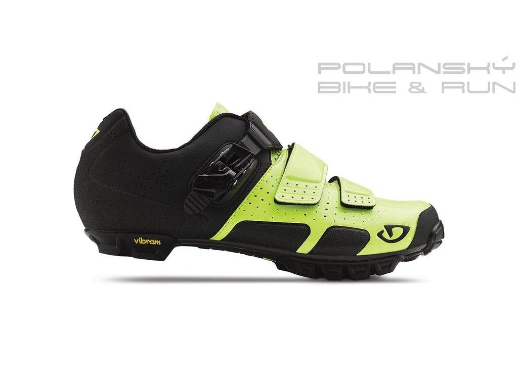 Cyklistické MTB tretry GIRO CODE VR70 žluto/černé