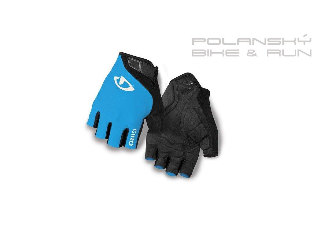Cyklistické rukavice krátkoprsté GIRO JAG modré
