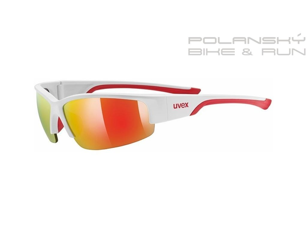 12919 bryle uvex sportstyle 215 white matte red 8316