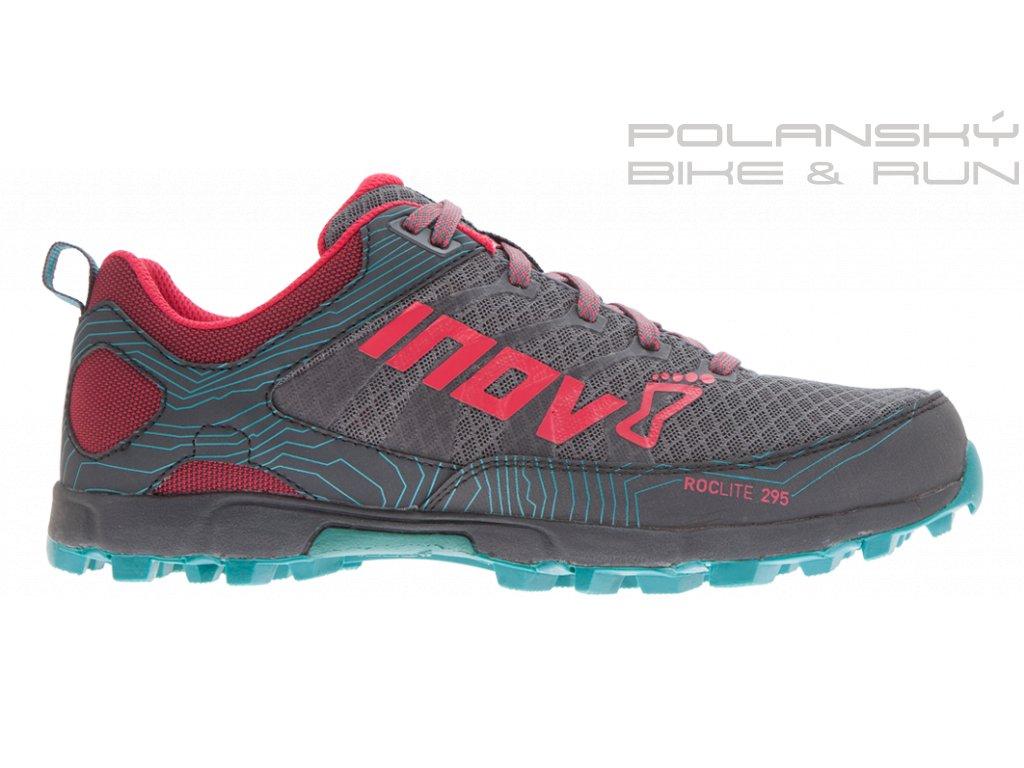 Běžecké boty INOV8 ROCLITE 295 šedo/červené
