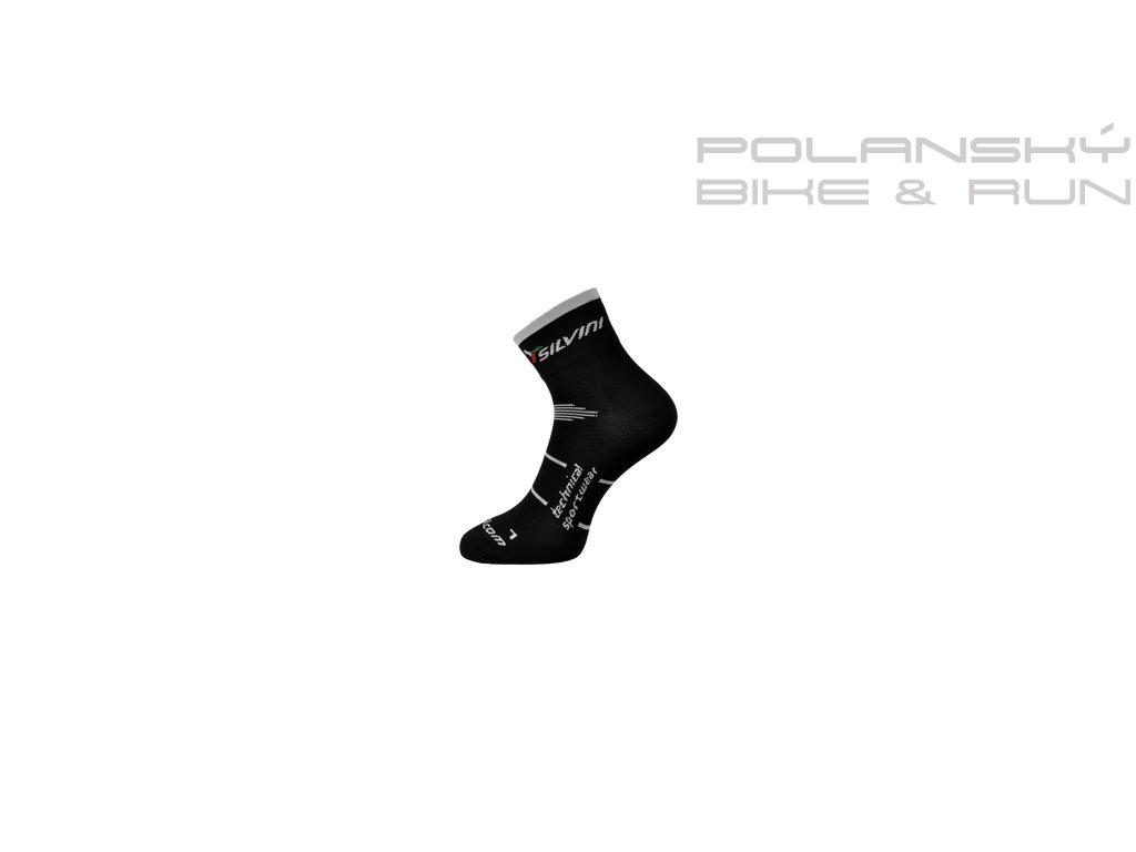 Cyklistické ponožky SILVINI ORATO černé - Polanský Bike   Run a84f92953d