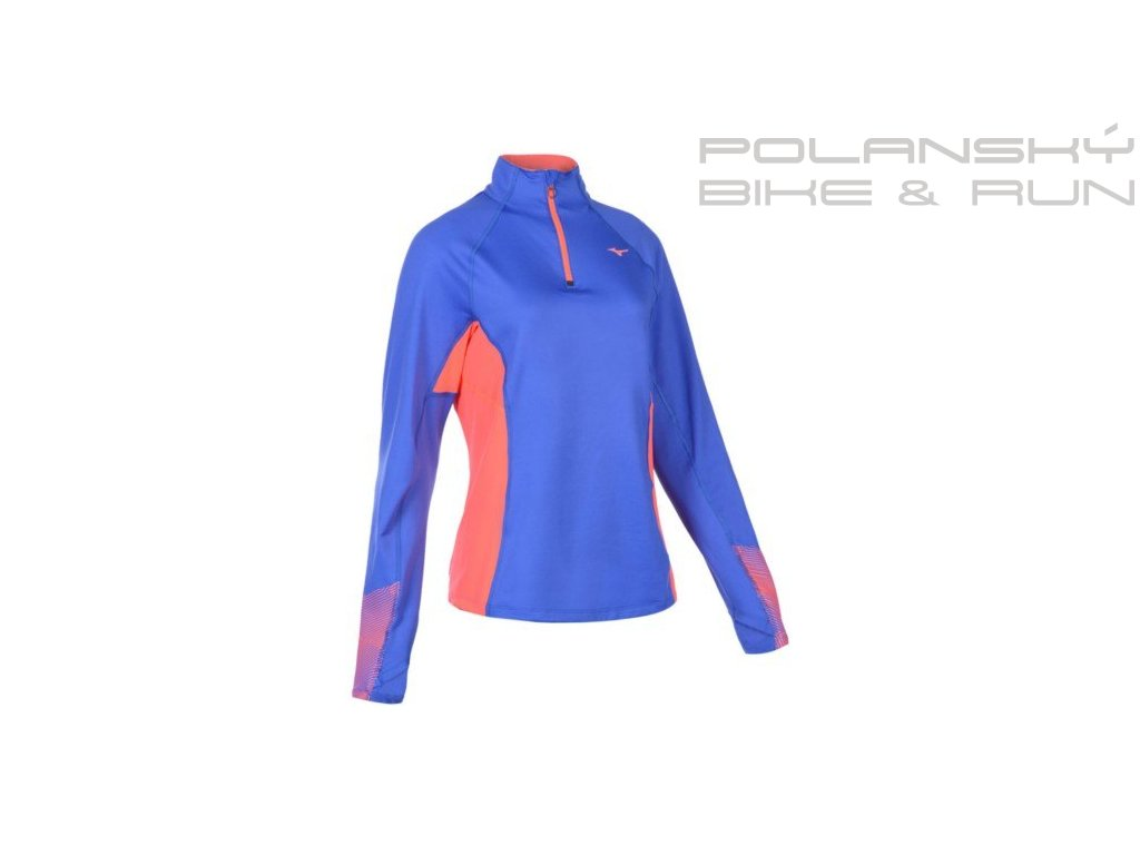 mizuno maglia running woman warmalite phenix top j2gc6704 26 dazzling blue fiery coral z