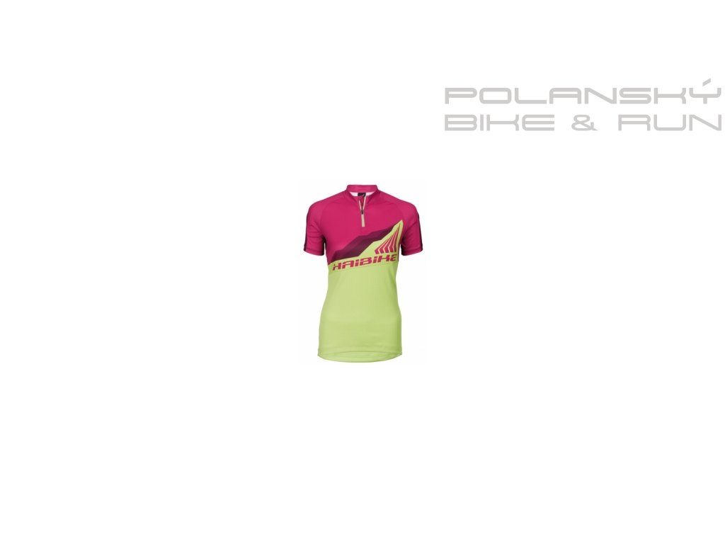 Haibike All Mountain MTB Shirt korte mouwen dames geel roze