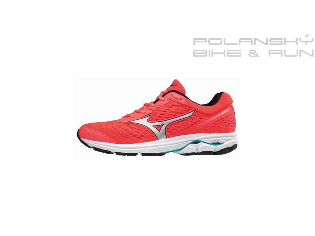 Běžecké boty MIZUNO WAVE RIDER 22 FieryCoral/Silv/PBlue