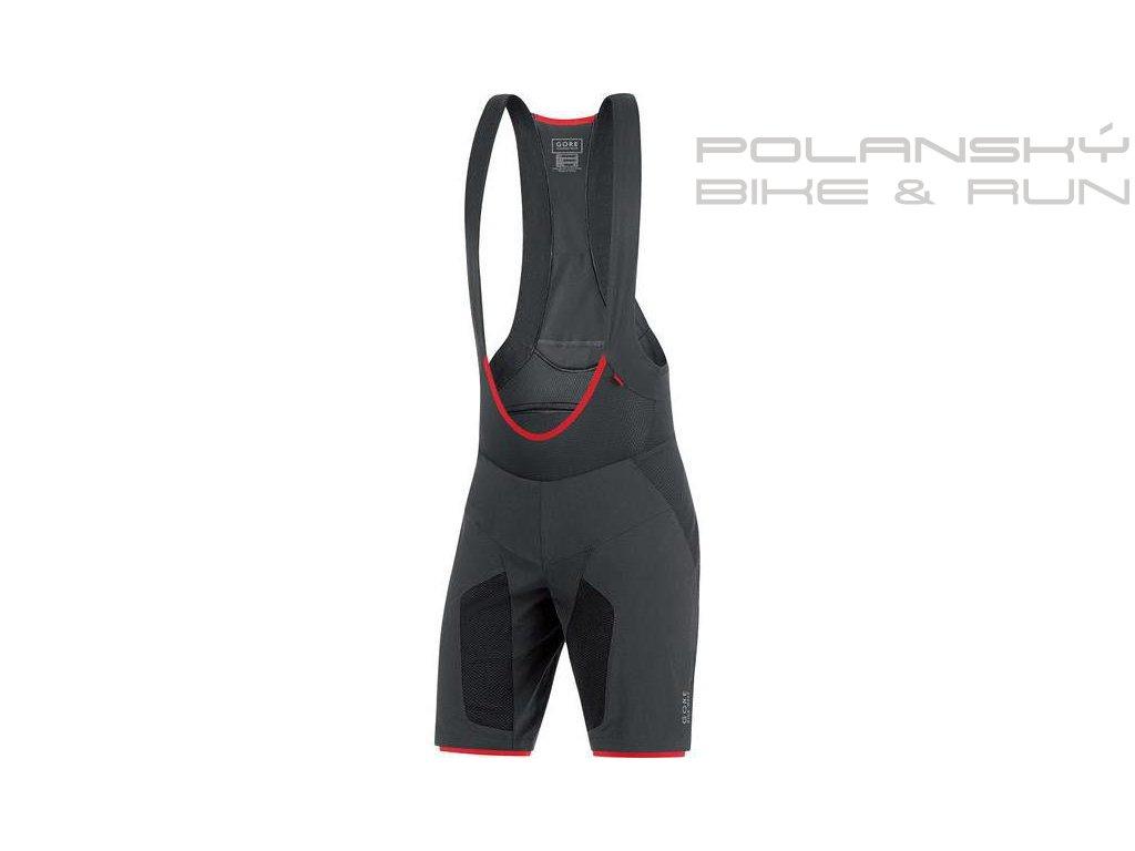 Cyklistké kraťasy s laclem GORE Alp-X PRO 2in1 Shorts+ black