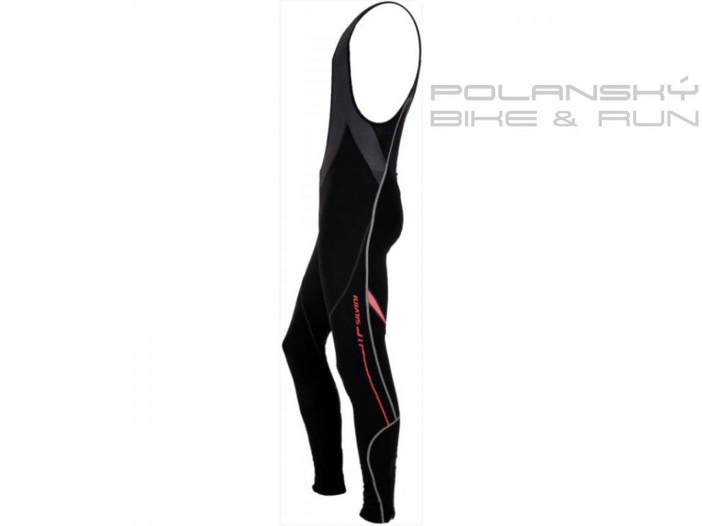 Pánské elastické kalhoty s laclem SILVINI Movenza black-red