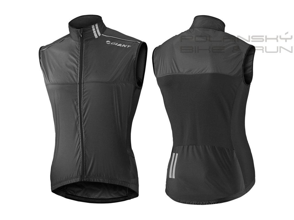 Vesta GIANT superlight wind vest black