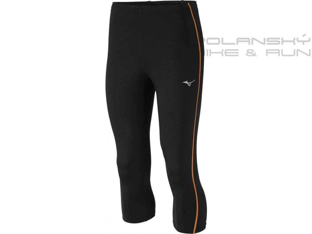 Běžecké 3/4 kalhoty MIZUNO Core Tights black/orange