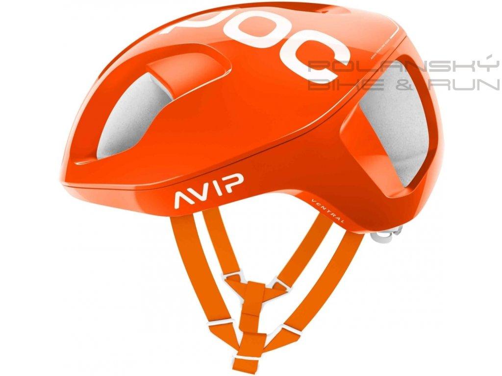 Cyklistická přilba POC Ventral Spin Zink Orange Avip