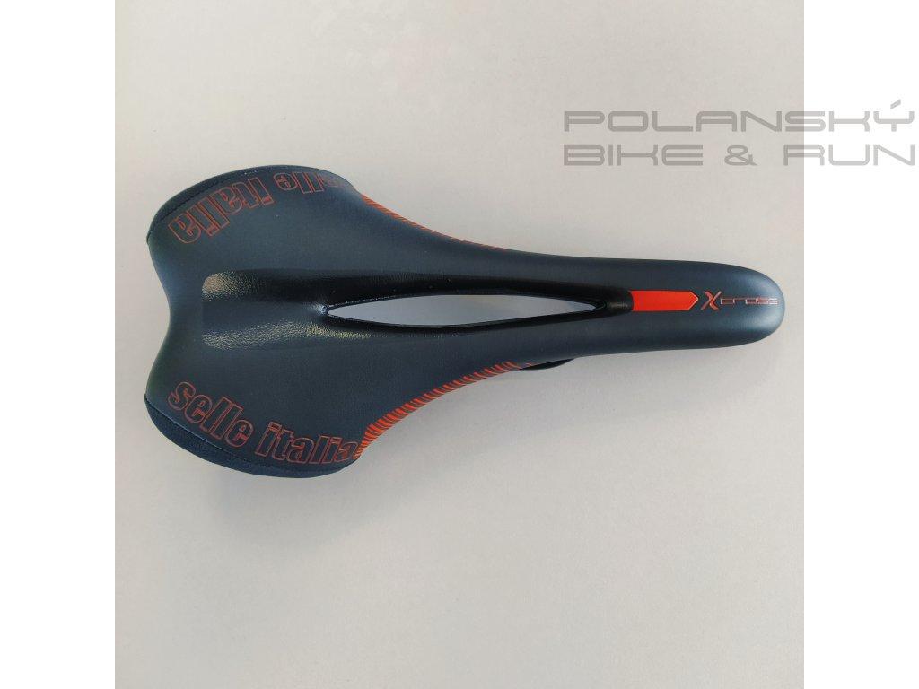 Sedlo SELLE Italia Xcross černá-oranžová