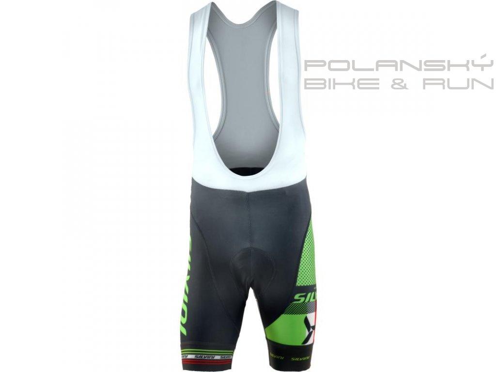 Pánské cyklistické elastické kraťasy SILVINI Team Top green