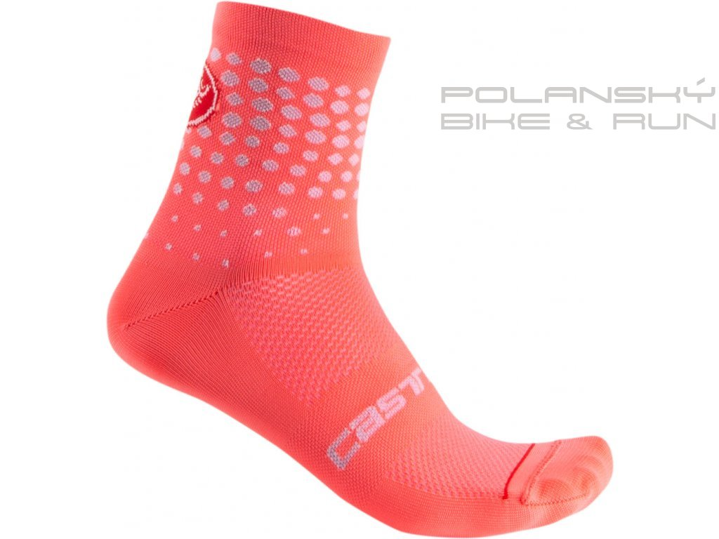 64079 castelli damske ponozky puntini brilliant pink